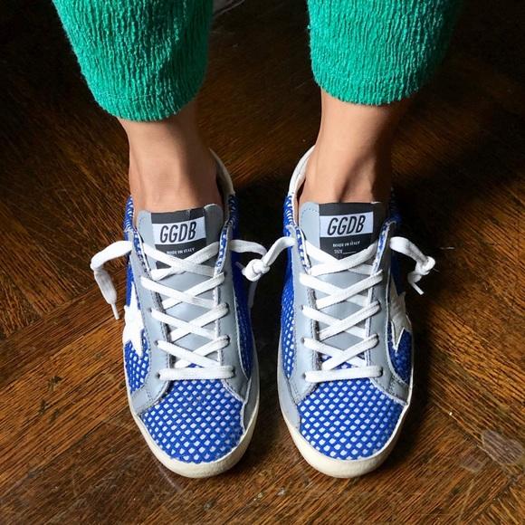 Golden Goose Blue Superstar Sneakers
